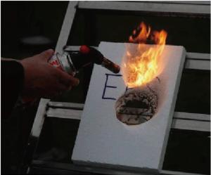 EPS燃焼試験 3秒