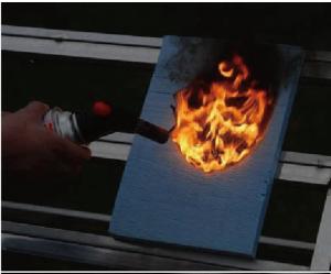 XPS燃焼試験 3秒